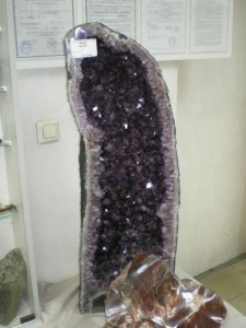 Жиода аметиста в Екатеринбуржском музее камня