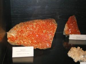 Кроконит. Уральский музей камня, Екатеринбург, 2011
