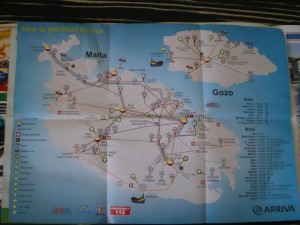 Автобусные маршруты по Мальте
